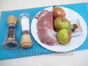 Свинина в горшочке с яблоками: Ингредиенты