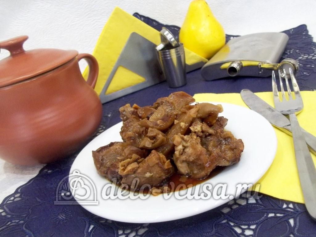 рецепт мяса с яблоками