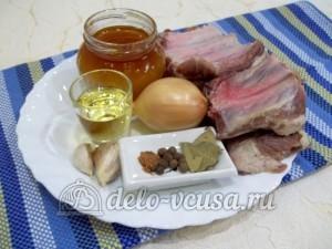 Жареные свиные ребрышки с медом: Ингредиенты
