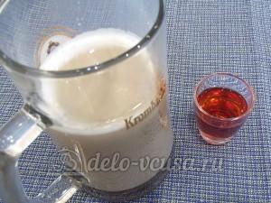 Желе кофе с коньяком: Смешать кофе с молоком