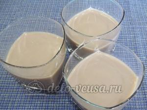 Желе кофе с коньяком: Разлить в форму
