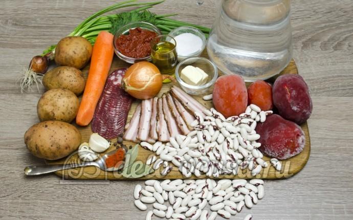 Суп с фасолью: Ингредиенты