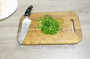 Суп с фасолью: Зелень мелко покрошить