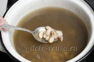 Суп с фасолью: Отварить фасоль