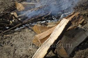 Шашлык из свинины: Подготовим угли