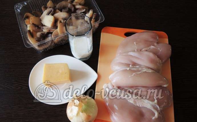 Курица с грибами или куриные бомбочки: Ингредиенты