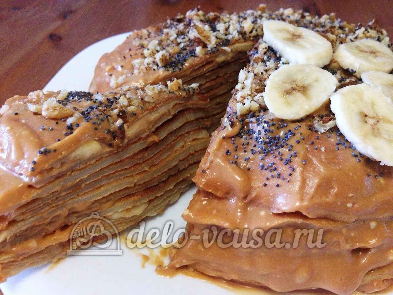 Блинный торт рецепт со сгущенкой вареной