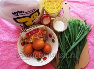 Плацинды с зеленью: Ингредиенты