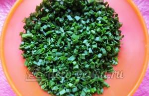 Плацинды с зеленью: Подготовим зелень