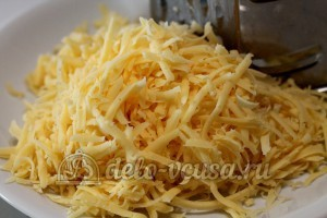 Лазанья: Сыр натереть на терке