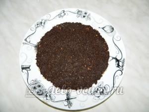 Торт без выпечки с кешью-кремом: Из маковой массы формируем корж