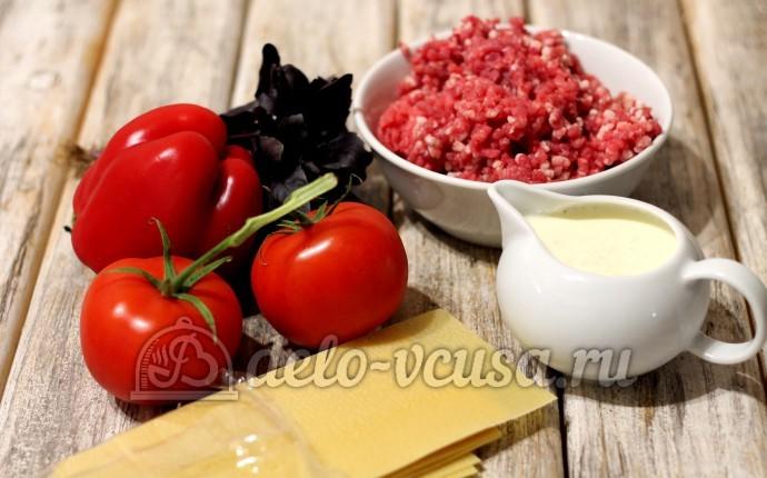 Лазанья: Ингредиенты