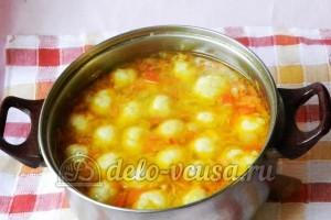 Суп с сырными шариками: В суп добавить сырные шарики