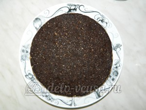 Торт без выпечки с кешью-кремом: Формируем третий корж