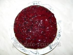 Торт без выпечки с кешью-кремом: Наносим ягодный крем