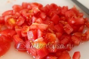 Лазанья: Порезать помидоры
