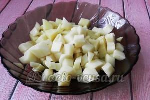 Суп из куриных сердечек: Картошку порезать кубиками