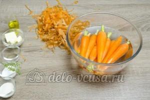 Глазированная морковь: Морковь кладем в воду