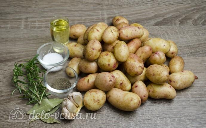 Молодая картошка в духовке: Ингредиенты