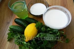 Огуречный коктейль: Ингредиенты