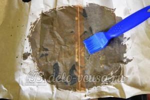Фаршированная цветная капуста: Пергамент смазать растительным маслом