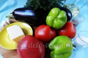 Баклажаны в духовке веером: Ингредиенты
