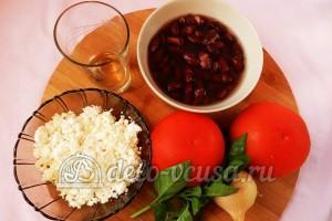 Салат с фасолью и помидорами: Ингредиенты