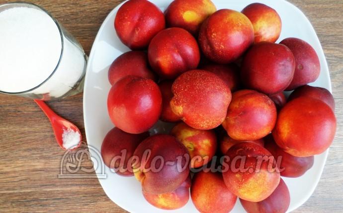 Варенье из нектаринов в хлебопечке: Ингредиенты