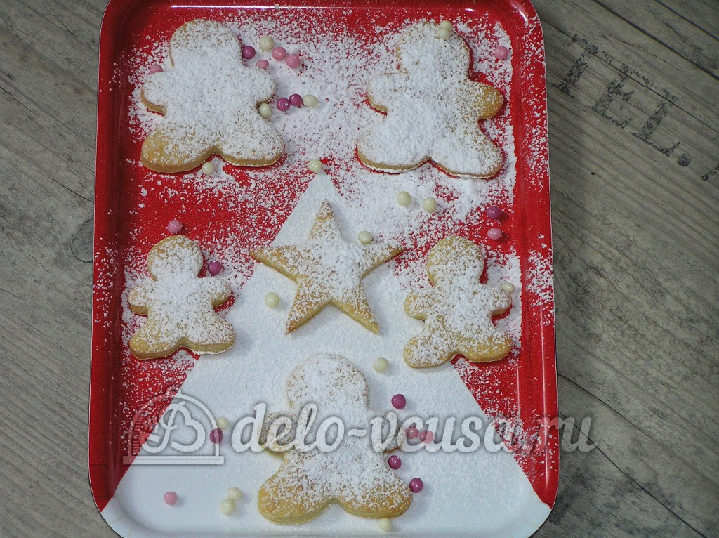 Печенье с сахарной пудрой рецепт с фото