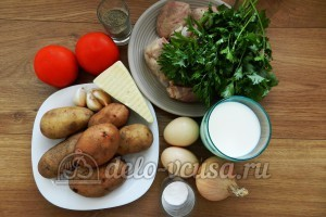 Свинина с овощами в духовке: Ингредиенты