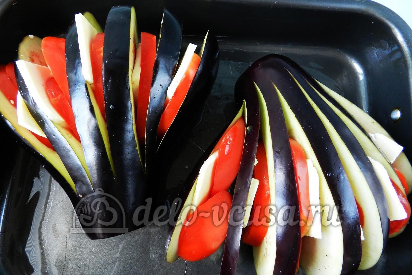 фаршированные баклажаны в духовке рецепт с фото веером