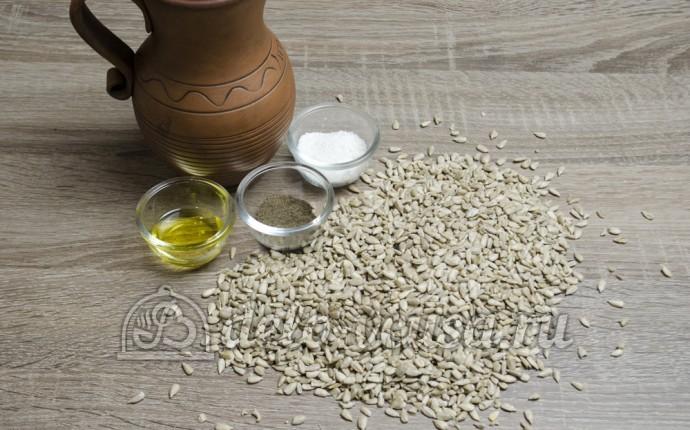 Жареные семечки подсолнуха: Ингредиенты