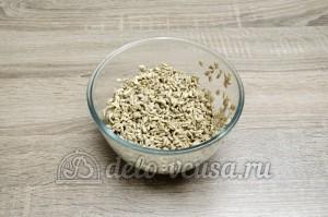 Жареные семечки подсолнуха: Слить всю воду