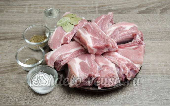 Свиные ребрышки в мультиварке: Ингредиенты