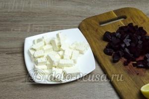 Салат свекла с сыром фета: Фету порезать кубиками