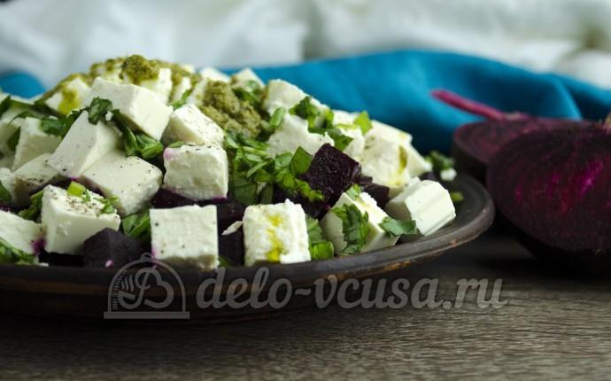 Салат свекла с сыром Фета