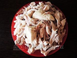 Чихиртма: Отделяем куриное мясо