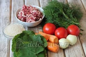 Долма из баранины: Ингредиенты