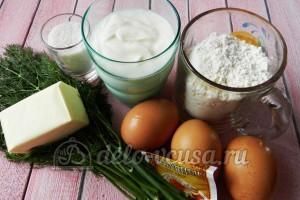 Пирог с яйцом и укропом: Ингредиенты