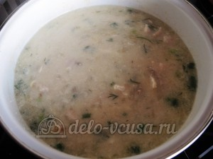 Чихиртма: Добавляем остальные ингредиенты в суп