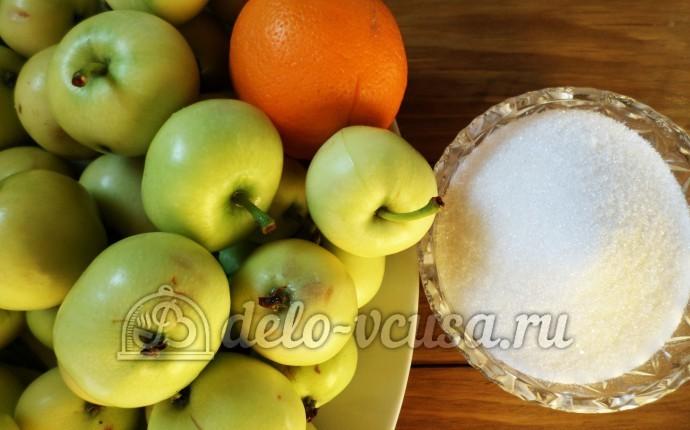 Варенье из яблок с апельсинами в хлебопечке: Ингредиенты