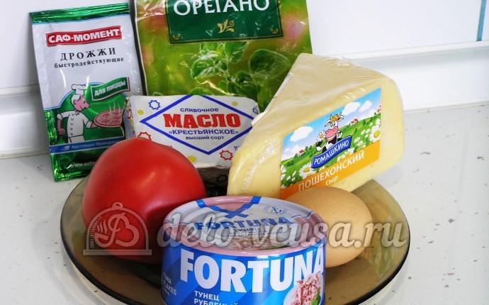 Пицца с тунцом: Ингредиенты