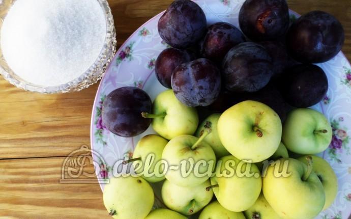 Варенье из яблок и слив в хлебопечке: Ингредиенты