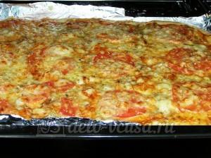 Пицца с тунцом: Выпекаем до готовности