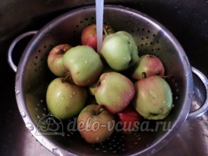 Сушка из яблок: Яблоки хорошо помыть
