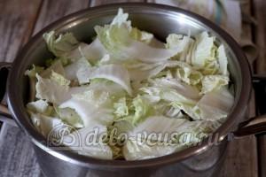 Тушеные овощи с мясом: Добавить пекинскую капусту