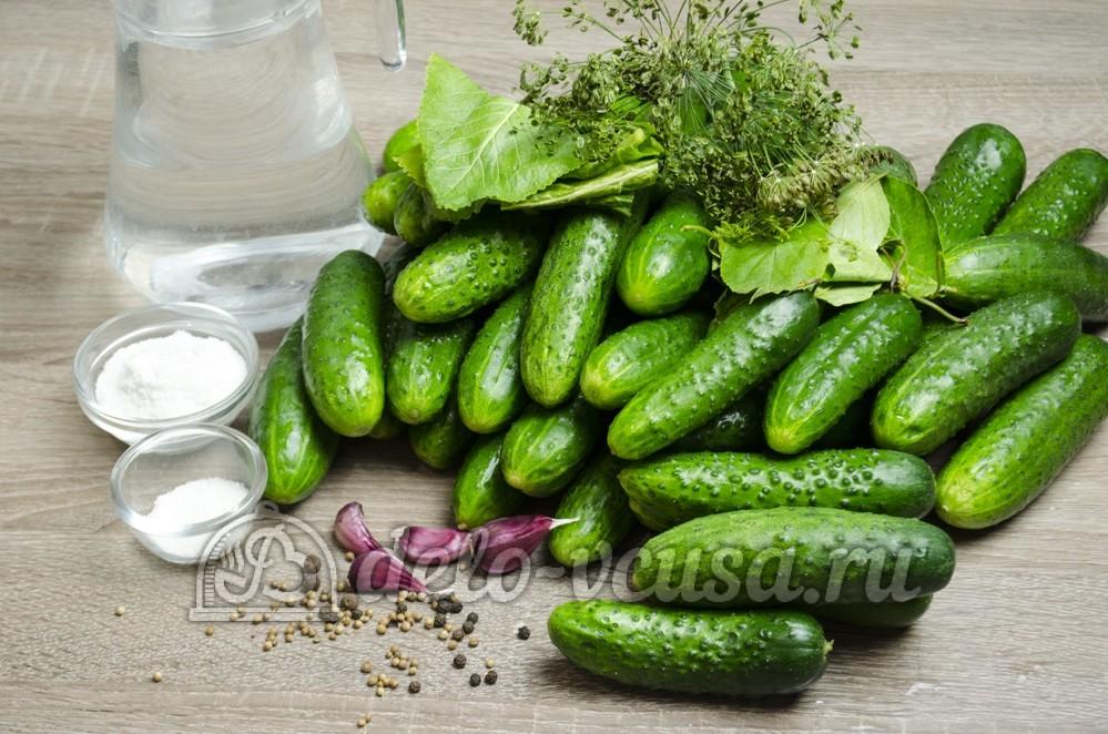 Малосольные огурцы: Ингредиенты