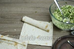 Лаваш с сыром и зеленью: Сворачиваем рулетиком
