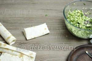 Лаваш с сыром и зеленью: Сворачиваем конвертиком