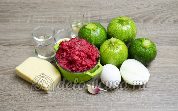Фаршированные кабачки: Ингредиенты